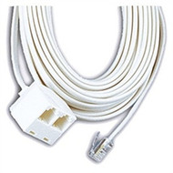 GE 25 Ft Dual Jack Telephone Line Cord White - DD617727