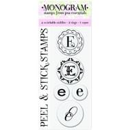 "Peel & Stick Gigi E"" Monogram Stamps - DD634389"