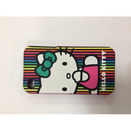 Hello Kitty iPhone 4/4S Lines Case Pink Cover Multi-Color Fitted - EE559014