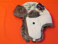 D&Y Winter Hat With Faux Fur Khaki Russian Style One Size Adult One - EE472354