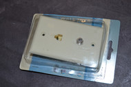 Phone Cable Wall Plate Almond Telephone - EE432136
