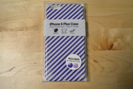 Gems iPhone 6 Plus Case Blue/White Stripes Includes Two Home Buttons - EE564607