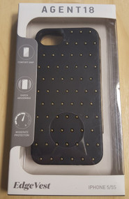 AGENT18 iPhone 5 5S SE Edgevest Black With Gold Studs Case Cover - EE542159