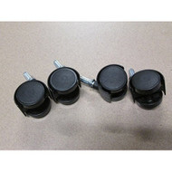 """Sterilite Replacement Casters Set Of 4 1"""" Stem EE475968 - ZZ574897"""