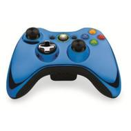 Microsoft OEM Wireless Controller Chrome Blue For Xbox 360 - DD637182