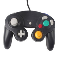 Two GameCube / Compatible Controllers Black For Wii  - ZZ634196