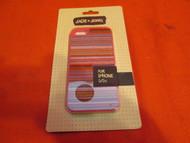 Jade & Jewel Pink Textured Stripe Case For iPhone 5 5S SE Cover Black - EE533908