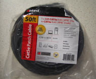 Inland Cat 5E Cable Black 50 Ft - DD646314