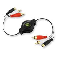 ReTrak Retractable S-Video To RCA Video Cable Etcablercasv - DD648557