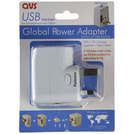 QVS PA-C2 World Power Travel AC Adapter Kit With USB And Surge - DD648564