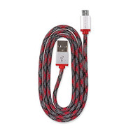 360 Electrical 360401 QuickCharge Braided Micro USB Cable 3'/0.9M Red - DD649196