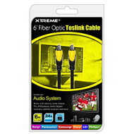 Xtreme 73506 6-FEET Fiber Optic Toslink Cable Connect Any Audio System - DD650337