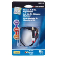 "Adapter Y"" RCA 1F To 2M By Monster Jhiu MfrPartNo 140291-00 - DD650358"