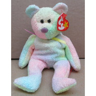 Ty Beanie Babies Groovy The Bear Stuffed Animal Plush Toy 8 1/2 Inches - DD652959