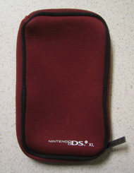 Bd&a Burgundy Zippered Pouch For Nintendo I XL For DS DSi - EE653052