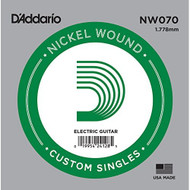 D'addario NW070 Nickel Wound Electric Guitar Single String .070 - DD653061