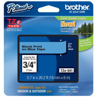 Brother Tape Black On Blue 18MM TZE541 - DD653941