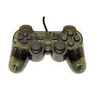 PS2 PlayStation 2 Wired Replacement Controller Transparent Black By - ZZZ99102