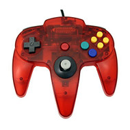 Transparent Red Replacement Controller For N64 By Mars Devices - ZZZ99112