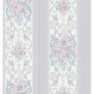 Brewster 974-44780 Vintage Legacy III Rose Scroll Stripe Wallpaper 20. - EE655650