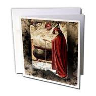 "3DROSE The Halloween Cauldron Greeting Cards 6"" X 6"" Set Of 12 GC 5378 - DD655658"