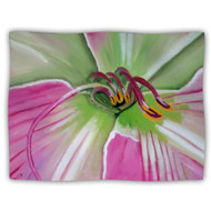 Kess Inhouse Cathy Rodgers Pink And Green Flower Dog Blanket 60 By 50 - DD655754