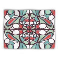 "Kess Inhouse Miranda Mol Brown Round Tiles"" Pet Dog Blanket 60 By 50 - EE656231"