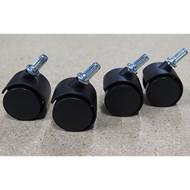 Set Of 4 Plastic Caster Wheels 3 Drawer Cart Office Storage Sterilite - ZZ657763