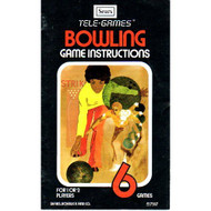 Bowling 2600 Sears Tele-Games Version 2600 Only No Game Pamphlet No - EE658545