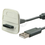 Gray USB Charging Cable For Xbox 360 Controllers Grey White - ZZ659033