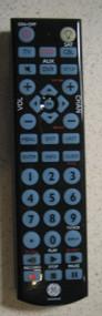 General Electric 24116 Large Button Backlit Universal Remote Black  - DD660114