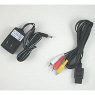 SNES Hookup Connection Kit AC Adapter Power Cord AV Cable Wall Charger - ZZ660400