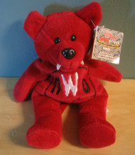 Racing Champions Series 1 WCW Bear NWO The Pac Red Toy 9IN Plush 9in. - DD660402