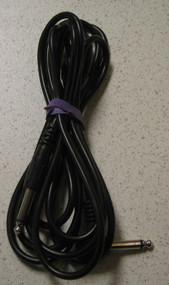 10 Foot 1/4 Inch Mono Male Straight To 1/4 Mono Male Right Angle Black - DD660470