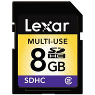 Lexar Multi-Use SDHC 8GB Flash Memory Card LSD8GBASBNA - EE661169