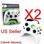2 Lot New White Controller Control Pad For Original Microsoft Xbox - ZZ662029