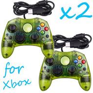 2 Lot New Green Controller Control Pad For Original Microsoft Xbox X - ZZ663527