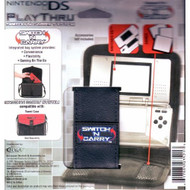 Nintendo Playthru Switch 'N Carry System Black Leatherette Case For DS - EE665144