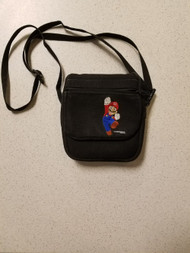 Mario Jumping Black Small Game Traveler With Strap Carry/shoulder For - DD666405