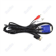 VGA Monitor High Definition Cable RCA Sound Adapter For Sega Dreamcast - ZZ666597