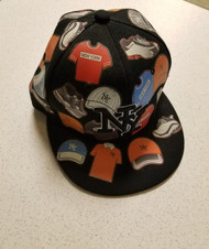 Top Pro Flat Cap Size M 7 - 7 1/8 New York Style Cap Multi-Color  - DD667235