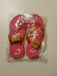 Ishoes Ladies Size 7 Pink Flip Flop Shoe Medium B  M - DD667236