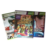 X Box 360 3 Games Bundle: Michael Phelps Kinect Adventures And Madden  - ZZ667624