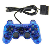 Wired Controller Dual Shock For PlayStation 2 PS2 Blue - EE669628
