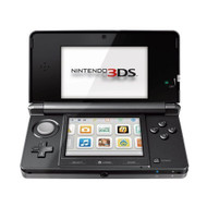 Nintendo 3DS Cosmo Black With Memory Card Console Handheld - ZZ669736