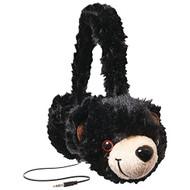 Retrak Etaudfbear Animalz Tangle-Free Headphones Black - DD670996