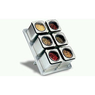 Carteret Home Collection CHC-90431 Magnetic Spice Rack With 6 Tin Jars - DD671010