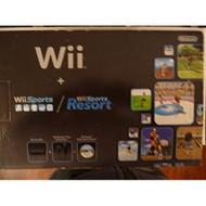 Nintendo Wii Console Black With Wii Sports And Wii Sports Resort By - ZZ671466