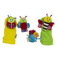 Lamaze Gardenbug Footfinder & Wrist Rattle Set Multi-Color LC27634 - EE671893