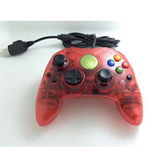 Clear Red Wired Controller For Xbox S-Type Shock Vibration Feedback - ZZ672024